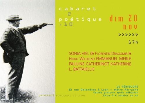 cabaret poétique,périscope,viel,merle,catherinot,battaiellie