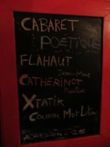cabaret poétique,flahaut,catherinot,xtatik,cocteau mot lotov,périscope,calaferte,brasserie georges,carnets du dessert de lune,massot,hearst,lille,t.g.v.,a plus d'un titre