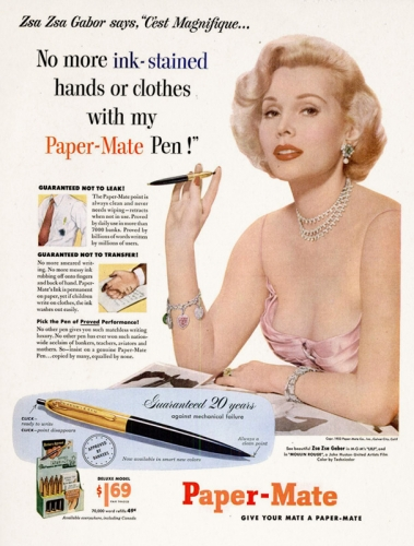 Zsa Zsa Gabor for Paper-Mate, 1953.jpg